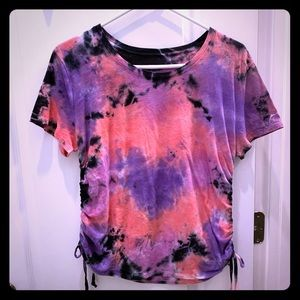 NWOT Pink Tie Dye Shirt Medium